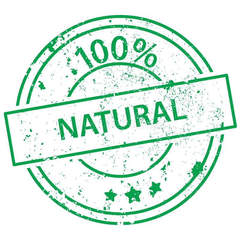 Ronde zegel - natuurlijke 100% royalty-vrije illustratie