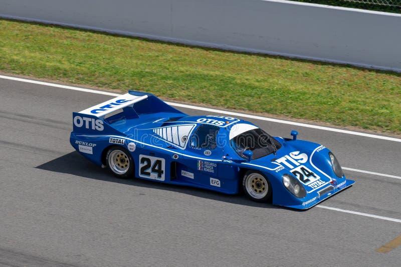 Rondeau M382 Classic endurance racing group C in montjuic spirit Barcelona circuit car show.  stock photos