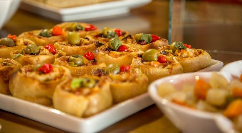 Rondelli makaronu brazylijski jedzenie obraz stock