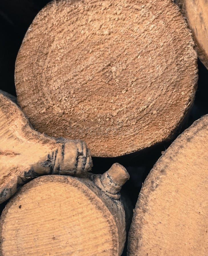 Rondin de fin en bois  photographie stock