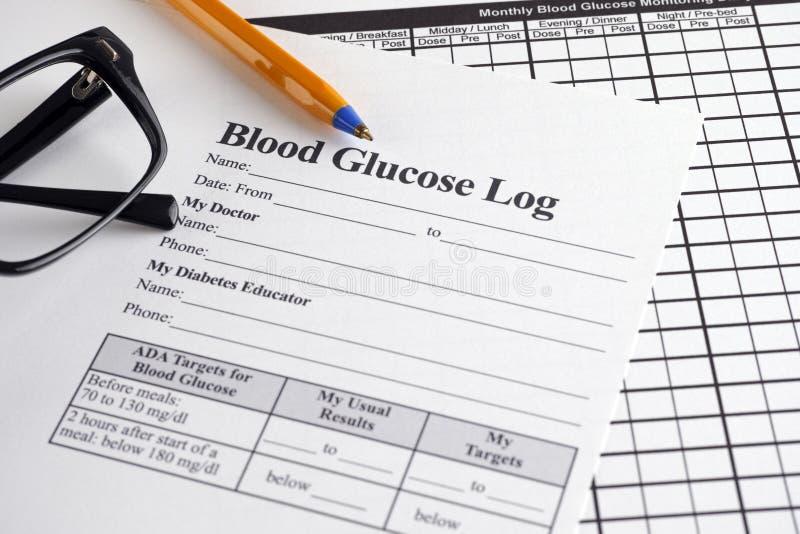 Rondin de glucose sanguin image stock