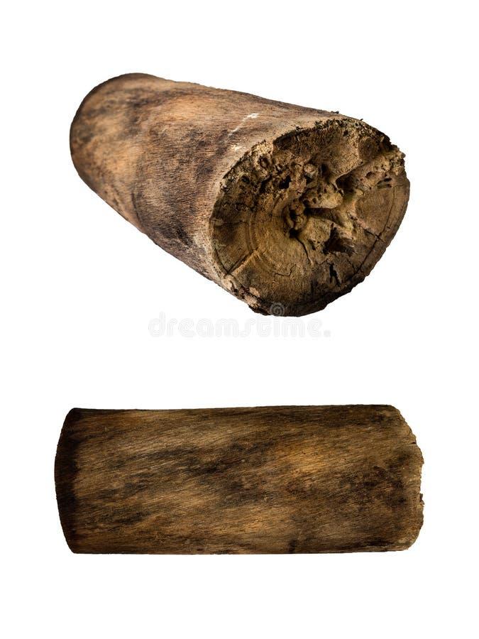 Rondin en bois d'isolement image libre de droits