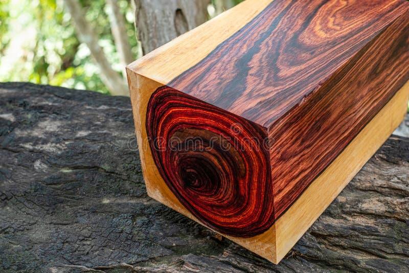 Rondins en bois de bois de rose birman photographie stock libre de droits