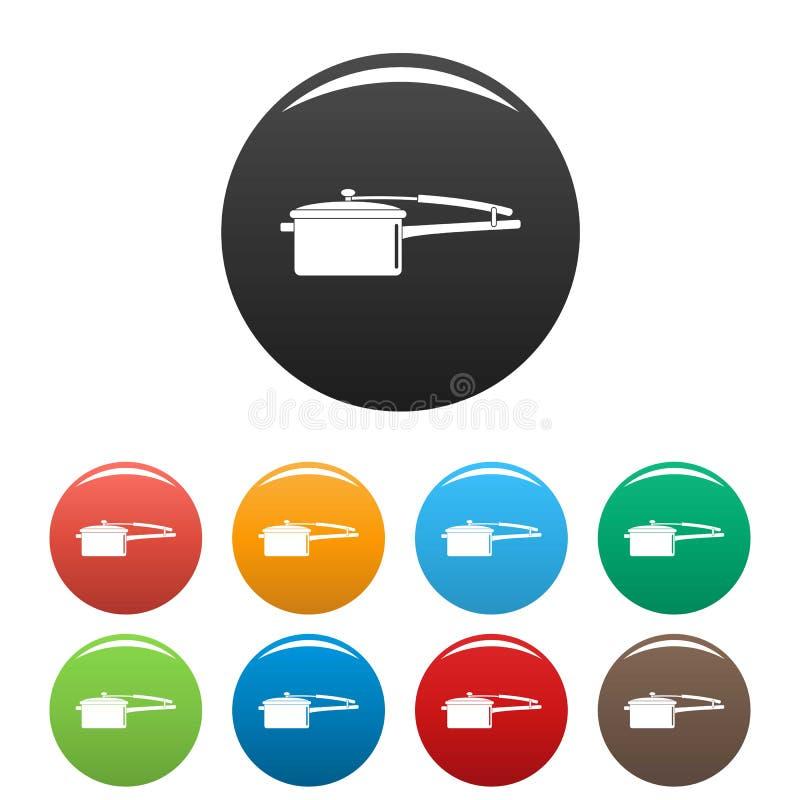 Rondla ikona ustawiający kolor ilustracji