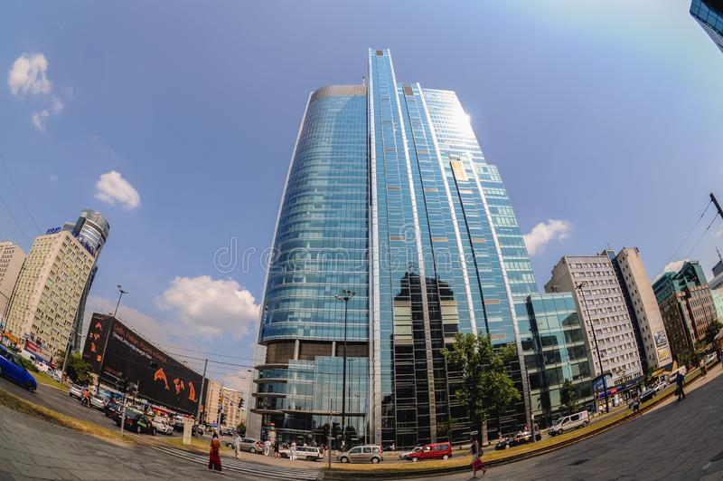 Rondo 1 ουρανοξύστης στη Βαρσοβία στοκ φωτογραφία