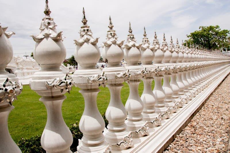 Rong Khwai świątyni ogrodzenia Chiang Raja prowincja Tajlandia zdjęcie royalty free