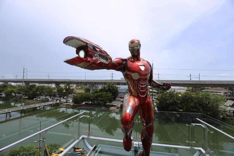 RONMAN Figure Model 1:1 SCALE on display at Robot Dessert Cafe royalty free stock image