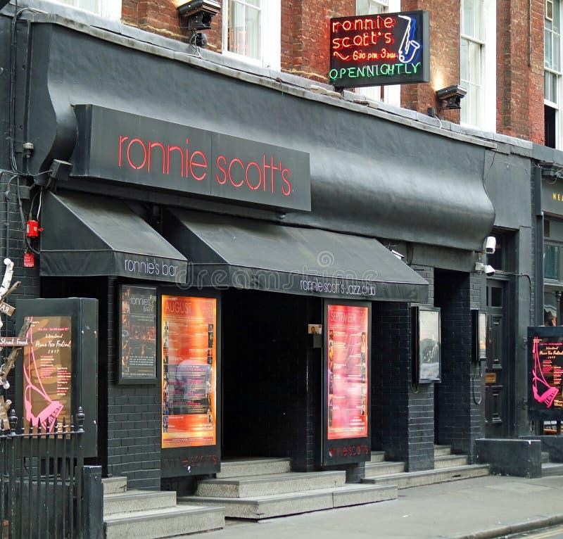 Ronnie Scott s jazzowego klubu Frith St Soho Londyn zdjęcia stock