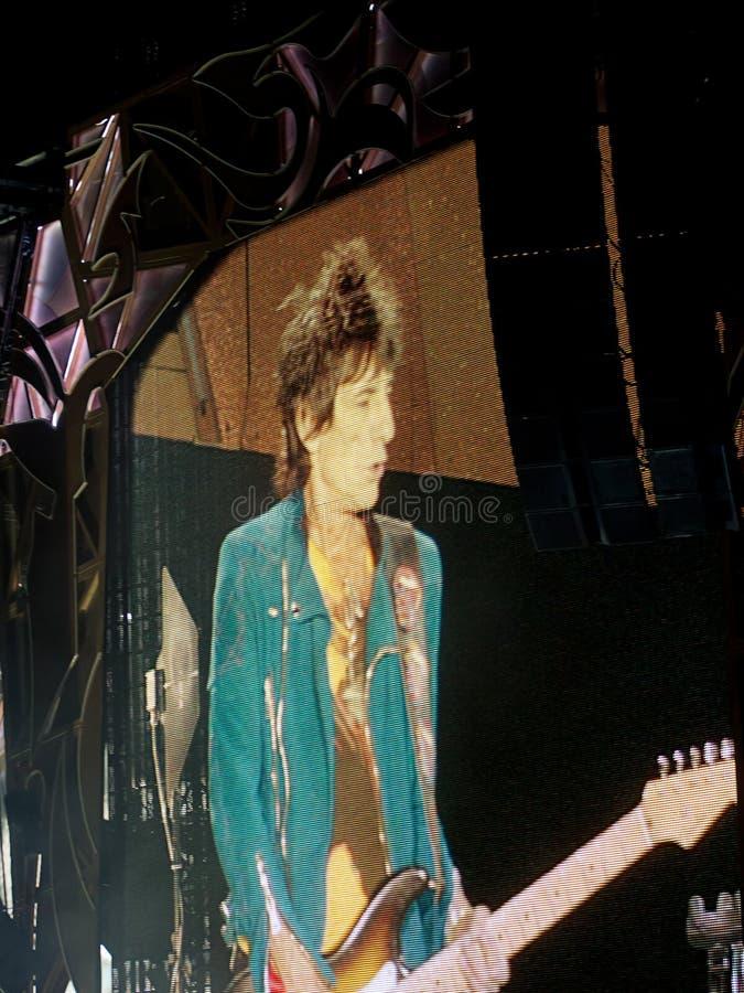 Ronnie Wood am Rolling Stones-Konzert, Rom, Italien - 22. Juni 2014 lizenzfreie stockfotografie