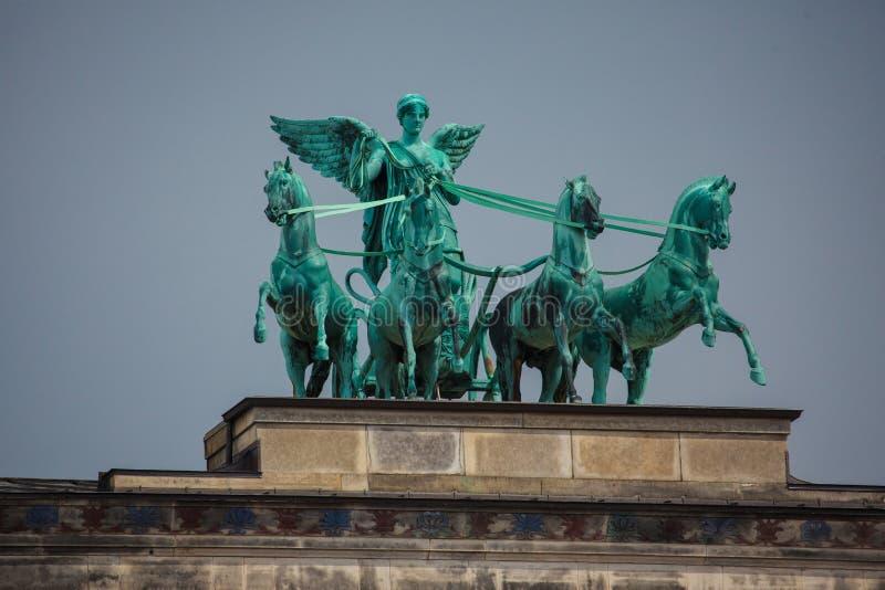 Ronze-Skulptur Victoria, Roman Goddess des Sieges stockfoto