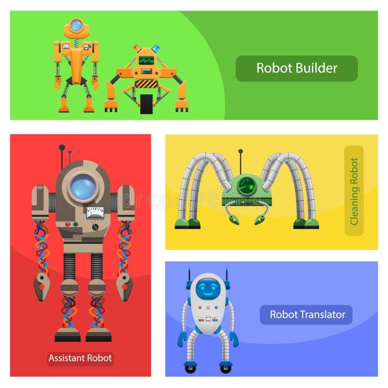 Roobots moderne pour différentes illustrations des besoins réglées illustration libre de droits