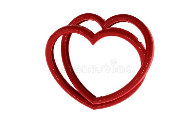 Rood 3d hart vector illustratie