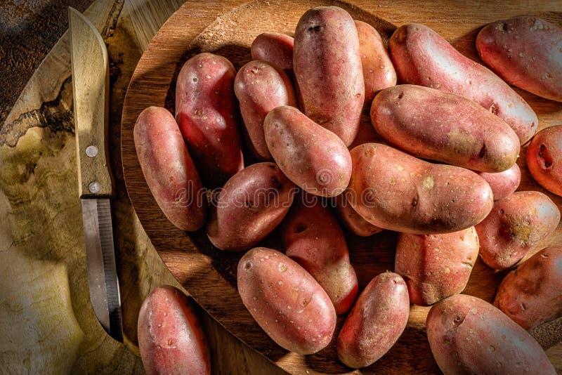 Rood aardappels en mes royalty-vrije stock fotografie