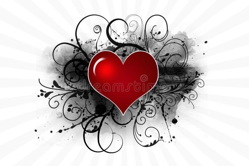 Rood abstract hart royalty-vrije illustratie