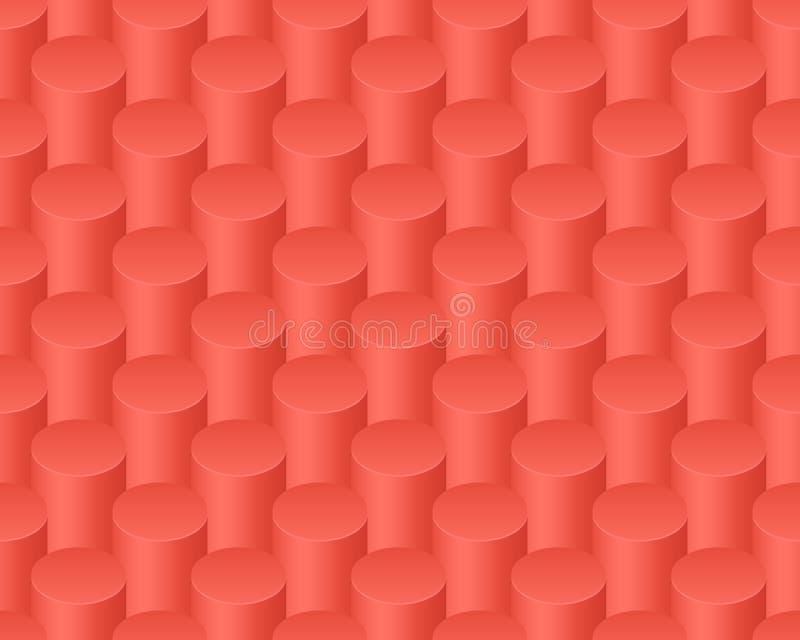Rood abstract kolommen vector naadloos patroon royalty-vrije illustratie