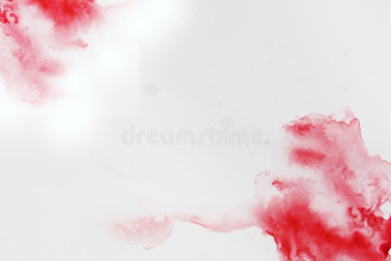 Rood abstract waterverfontwerp als achtergrond Geïsoleerde coloristics van waterverfverven foto royalty-vrije illustratie