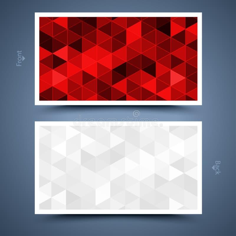 Rood adreskaartjemalplaatje. Abstracte achtergrond  vector illustratie