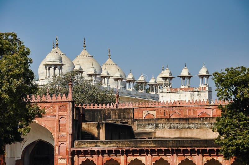 Rood Agra-Fort in Agra Uttar Pradesh India royalty-vrije stock afbeeldingen