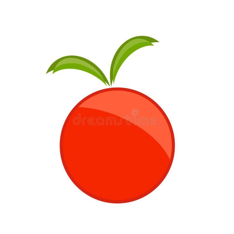 Rood appelsymbool royalty-vrije illustratie