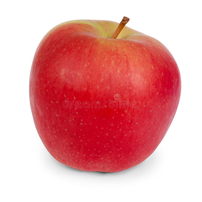 Rood Apple (het Knippen weg) royalty-vrije stock fotografie