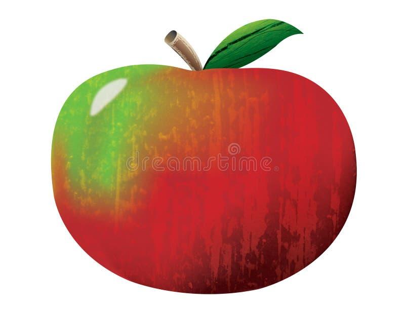 Rood Apple met Texturen royalty-vrije stock afbeelding