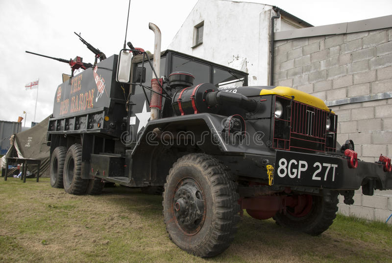Rood Baron Truck royalty-vrije stock fotografie