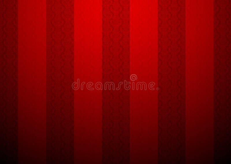 Rood behang met een klein patroon royalty-vrije illustratie