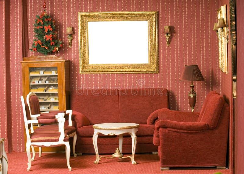 Rood binnenlands ontwerp stock fotografie