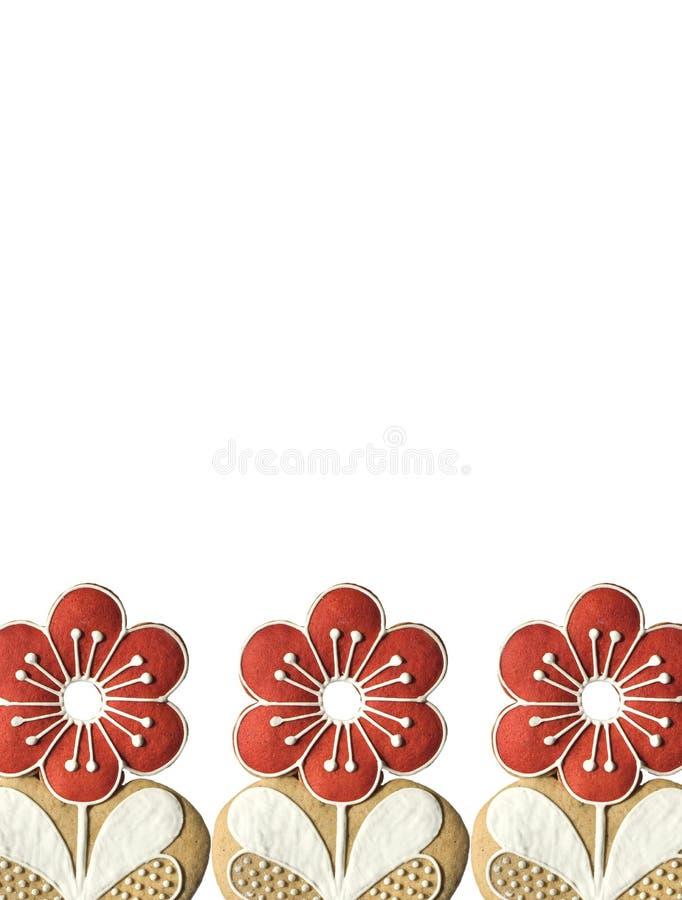 Rood bloemframe royalty-vrije stock afbeeldingen