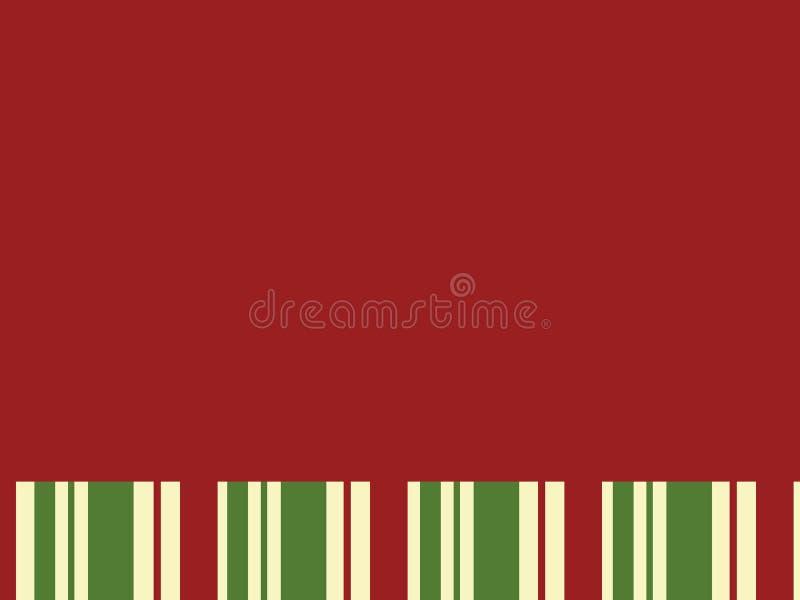 Rood Blok met de Strepen van Kerstmis royalty-vrije stock foto
