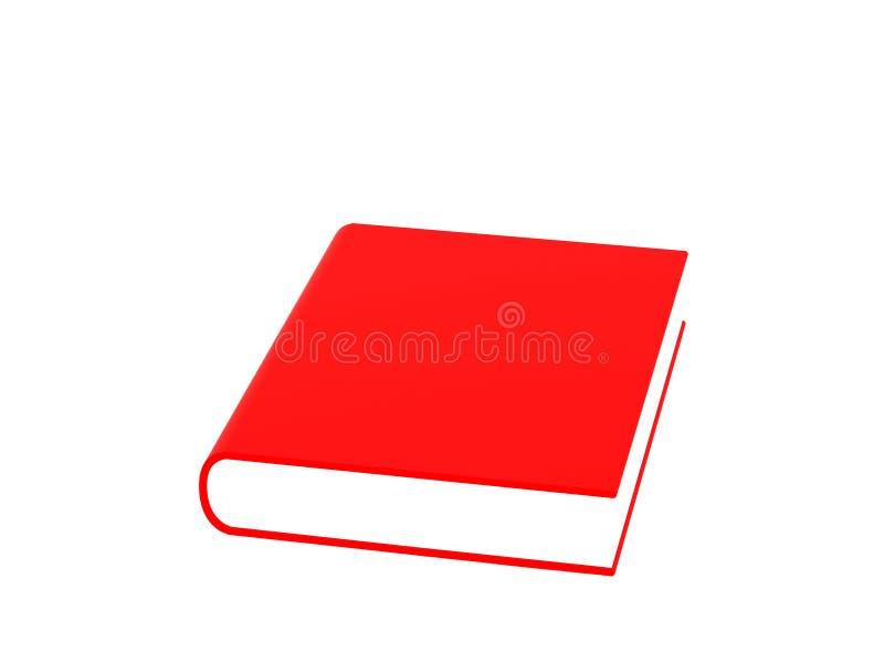 Rood boek royalty-vrije illustratie