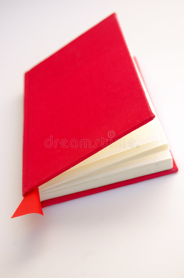 Rood Boek met Witte Pagina's stock afbeeldingen