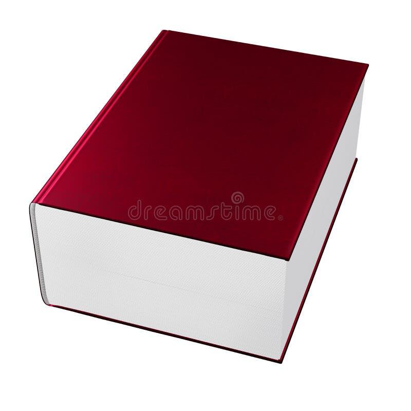 Rood boekdeel vector illustratie