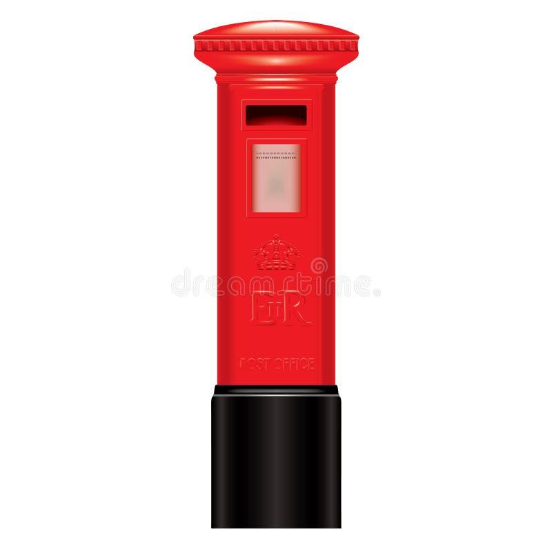 Rood brievenbus-Engeland-Londen-pictogram-Symbool royalty-vrije illustratie