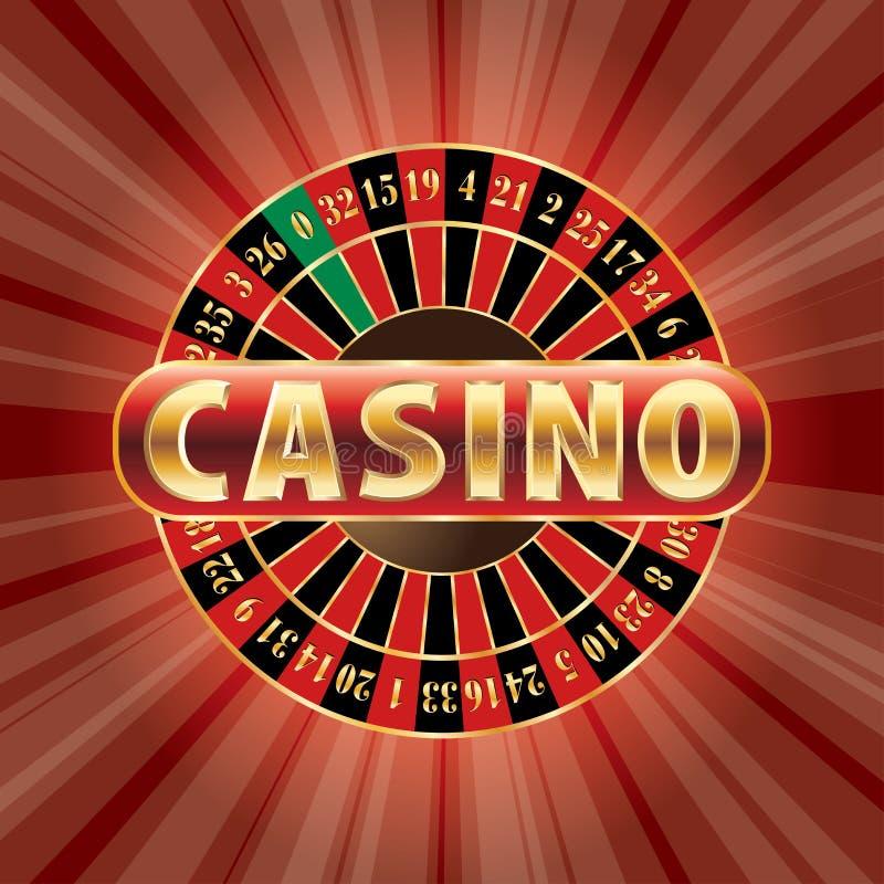 Rood casino vector illustratie