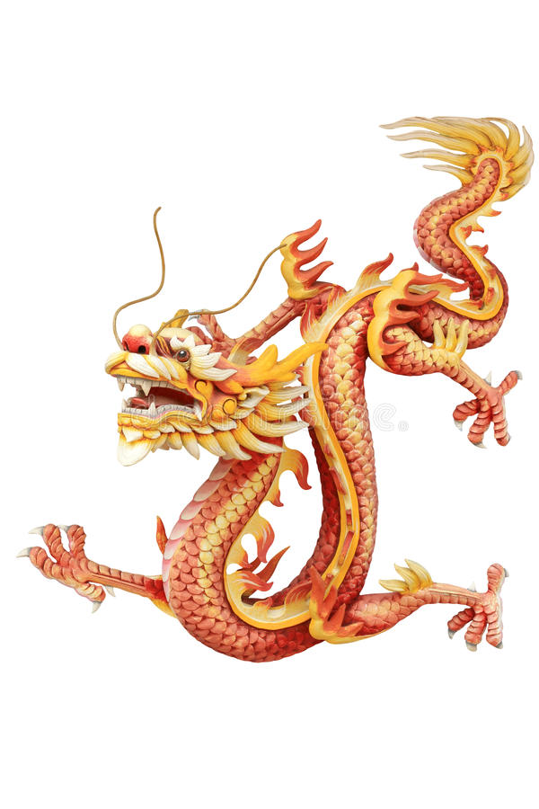 Rood Chinees draakbeeld royalty-vrije stock foto's