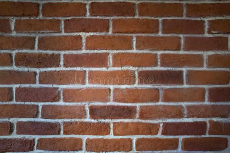 Rood Clay Brick Wall royalty-vrije stock fotografie