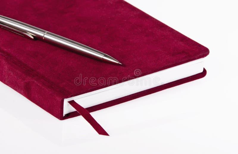 Rood dagboek royalty-vrije stock afbeeldingen