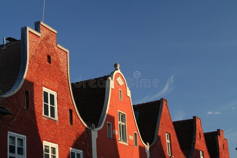 Rood dak 2 stock afbeelding