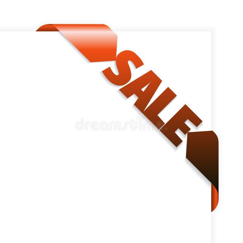 Rood de hoeklint van de verkoop vector illustratie