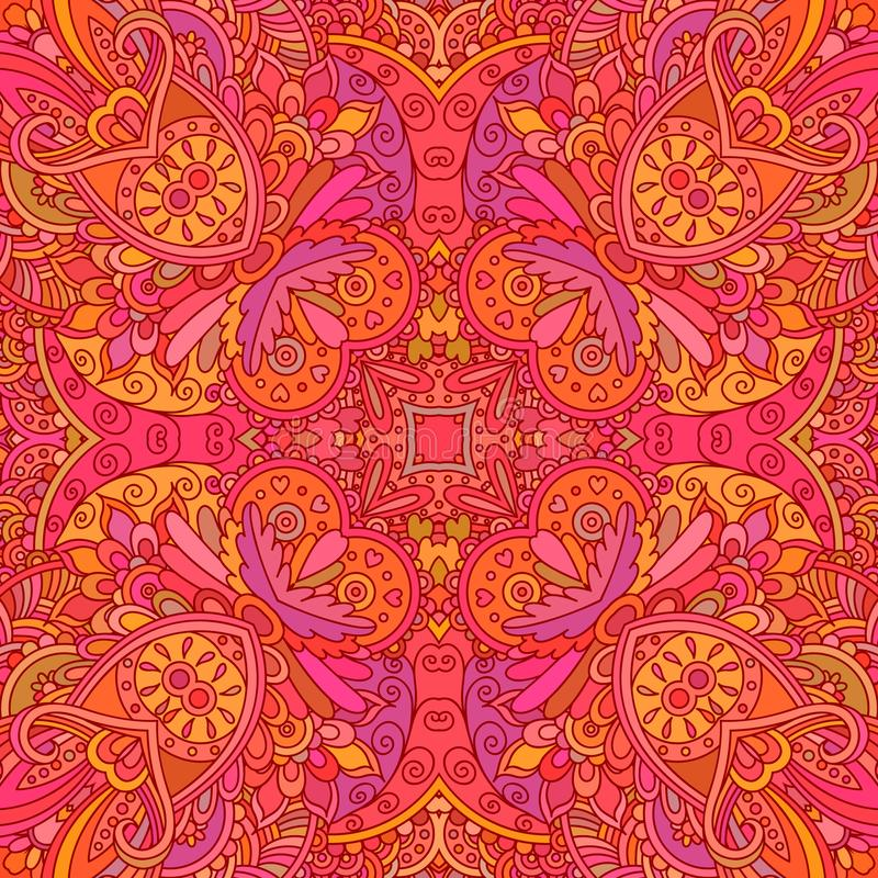 Rood decoratief naadloos patroon vector illustratie