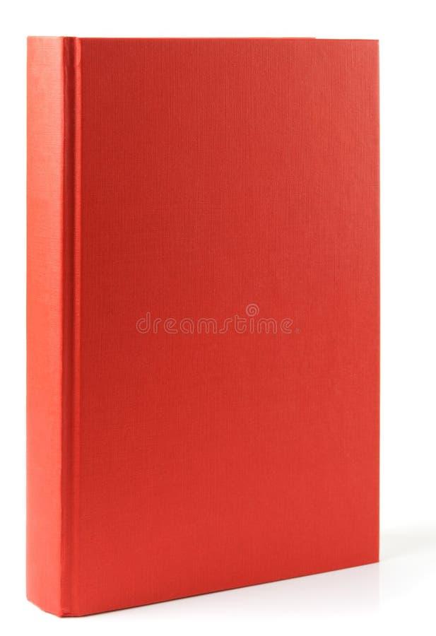 Rood die boek op witte achtergrond wordt geïsoleerd stock afbeeldingen