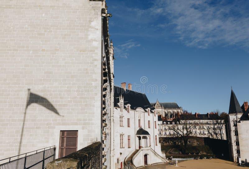 rood do castelo dos duques de Brittany (DES Ducs de Bretagne do castelo) em Nantes, França NOVEMBRO DE 2018 fotografia de stock