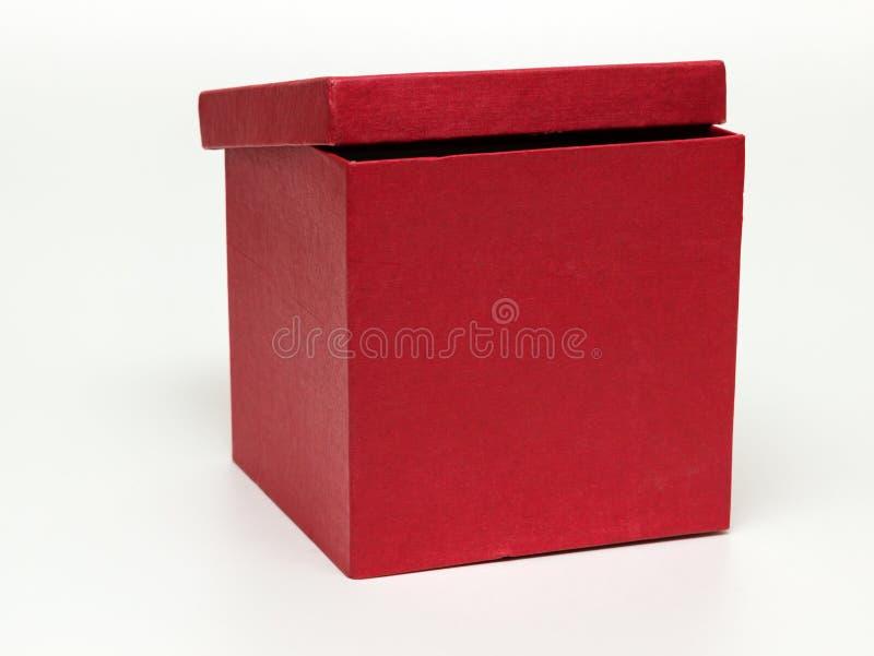 Rood document vakje met deksel stock fotografie