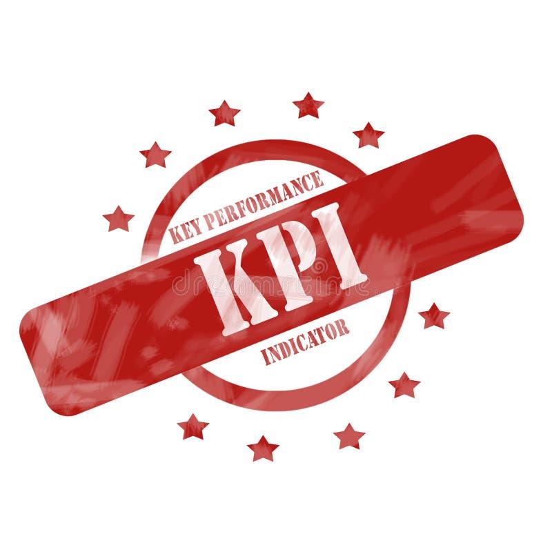 Rood Doorstaan KPI-Zegelcirkel en Sterrenontwerp stock illustratie