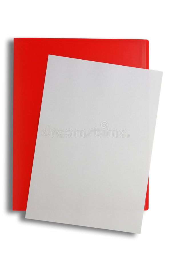 Rood dossier met het knippen van weg royalty-vrije stock afbeeldingen