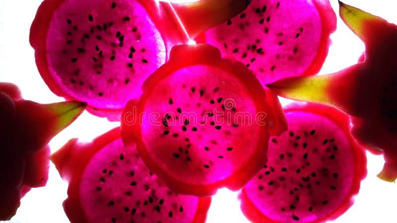 Rood Dragon Fruit royalty-vrije stock foto