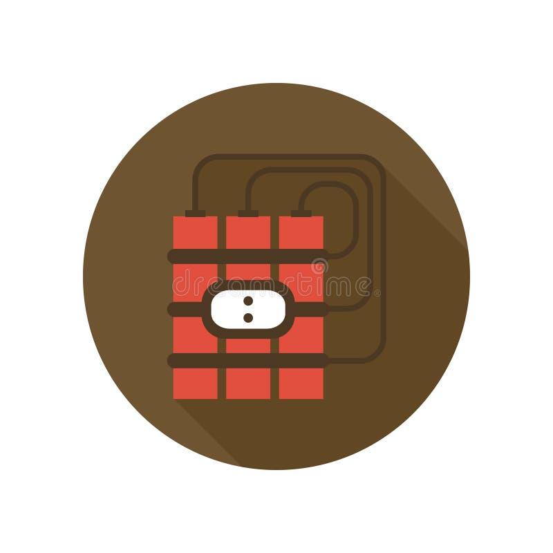 Rood Dynamiet met Tijdopnemerpictogram Het Thema van de Verschrikkingswapens van de bomdetonator Teken en symbool vector illustratie
