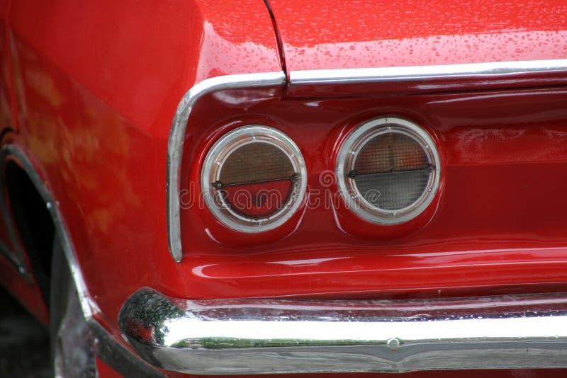 Rood een auto royalty-vrije stock foto's