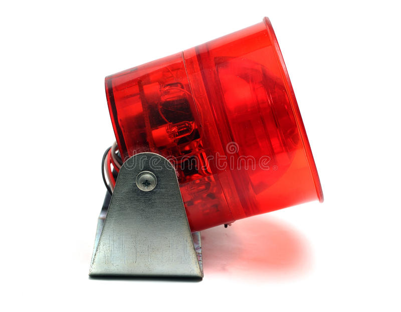 Rood een geïsoleerde sirene stock afbeeldingen